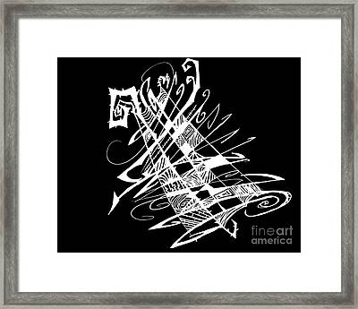 Black And White And Abstract All Over Framed Print by Stef Schultz Sorry Little Sharky