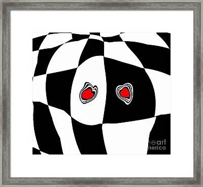 Black White Red Art No.103. Framed Print