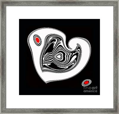 Black And White And Red No.56. Framed Print