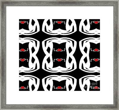 Pattern Black White Red No.92. Framed Print by Drinka Mercep