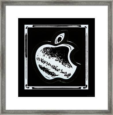 Black And White Apple Framed Print