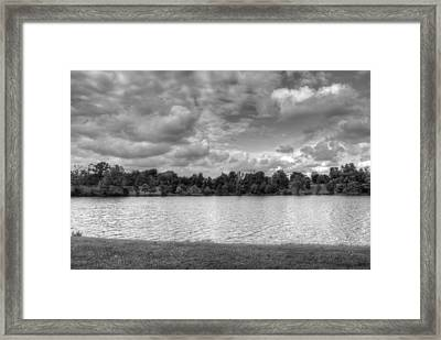 Framed Print featuring the photograph Black And White Autumn Day by Michael Frank Jr