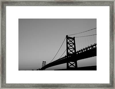 Black And White Bridge Framed Print by Bill Cannon