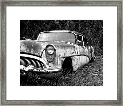 Black And White Buick Framed Print by Steve McKinzie