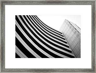 Black And White Building Curve Shape  Framed Print by Kittipan Boonsopit