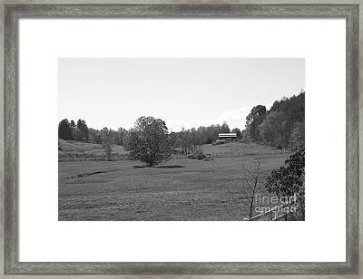 Framed Print featuring the photograph Black And White Country Fields by Michael Waters
