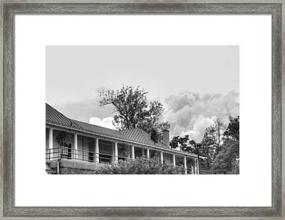 Framed Print featuring the photograph Black And White Delaware Casino by Michael Frank Jr
