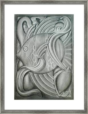 Black And White Fish Framed Print