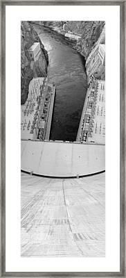 Black And White Hoover Dam Framed Print