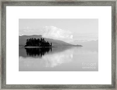 Black And White Island Near Hoonah Framed Print by Darcy Michaelchuk