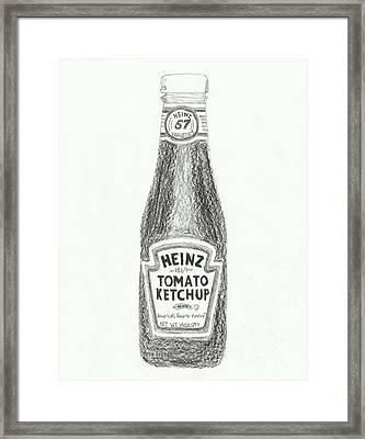 Black And White Ketchup Framed Print