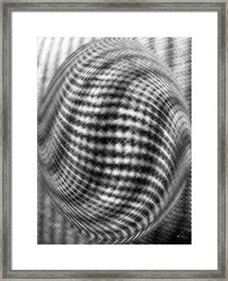Black And White Micro Linear  Framed Print