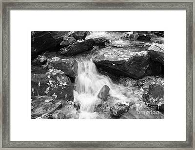 Black And White Mini Waterfall Framed Print by Michael Waters