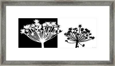 Black And White Framed Print by Nomi Elboim