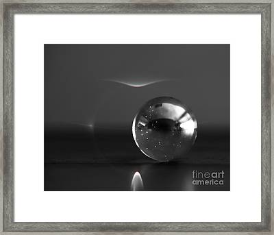 Black And White North Selas Framed Print by Soultana Koleska