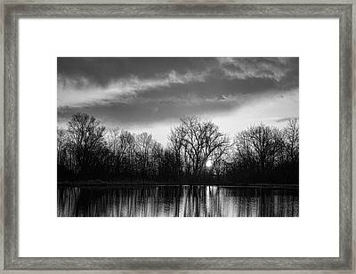 Black And White Sunrise Over Water Framed Print by James BO  Insogna