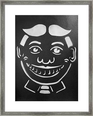 Black And White Tillie Framed Print by Patricia Arroyo