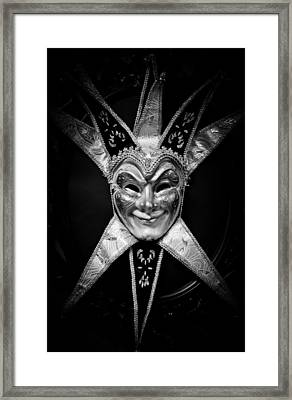 Black And White Trickster Framed Print