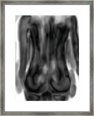 Black Back Framed Print by Mathieu Lalonde