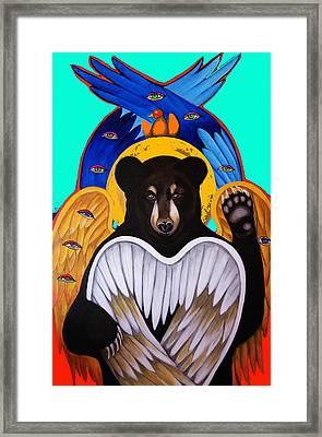 Black Bear Seraphim Photoshop Framed Print by Christina Miller