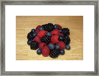 Framed Print featuring the photograph Black Blue Red by Michael Waters
