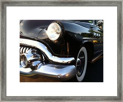 Framed Print featuring the photograph Black Buick 1952 by Elizabeth Coats