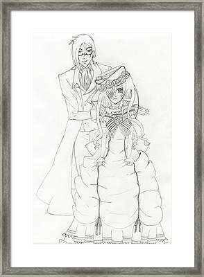 Black Butler Fan Art Framed Print by Ashley Rommel