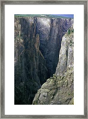 Black Canyon National Park Close View Framed Print by John Brink