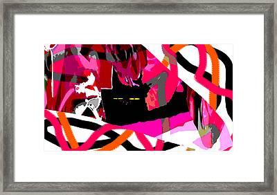 Black Cat Framed Print by Elisabet Bondesson