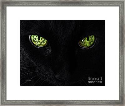 Black Cat Mystique Framed Print by Dale   Ford