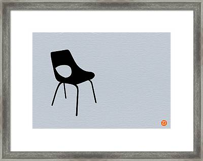 Black Chair Framed Print by Naxart Studio