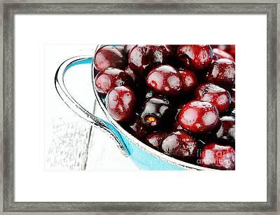 Black Cherries Framed Print by Stephanie Frey