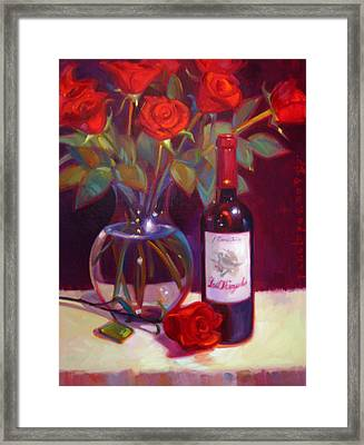 Black Cherry Bouquet Framed Print by Penelope Moore