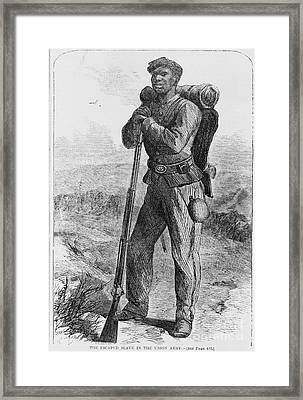 Black Civil War Soldier Framed Print