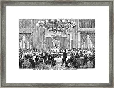 Black Convention, 1876 Framed Print by Granger