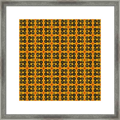 Black Cookies Framed Print