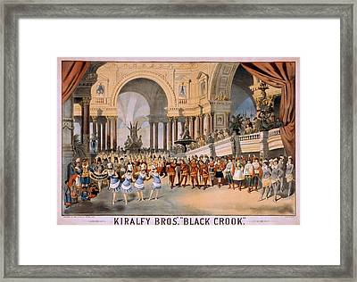 Black Crooks Was First Produced In New Framed Print by Everett