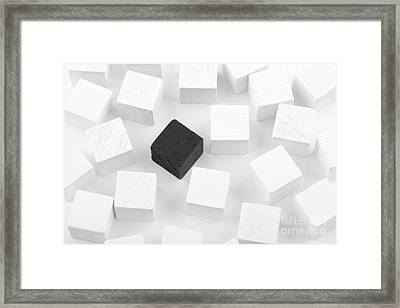 Black Cube Lost In White Cube Framed Print by Simon Bratt Photography LRPS