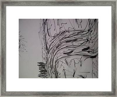 Black Day Framed Print by Samantha Gilbert