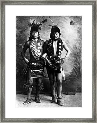 Black Elk Left In Undated Photo Framed Print by Everett