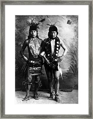 Black Elk Left In Undated Photo Framed Print