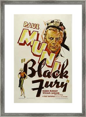 Black Fury, Paul Muni, 1935 Framed Print by Everett