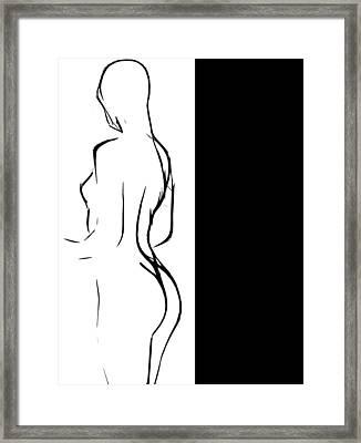 Black Girl White World Framed Print by Steve K