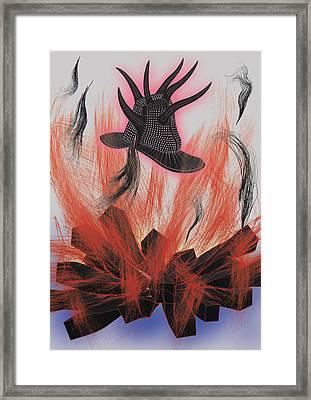 Black Hat Framed Print by Foltera Art
