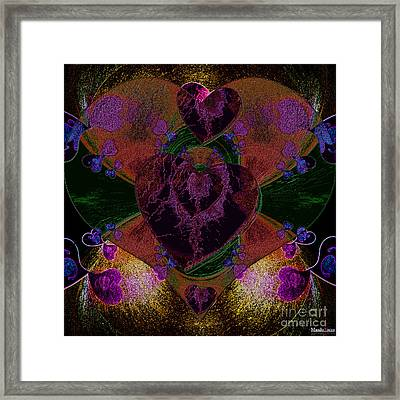 Black Heart Color Framed Print