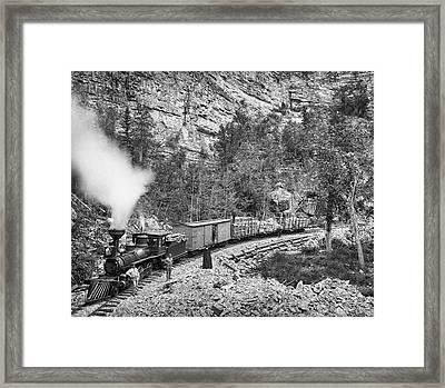 Black Hills And Fort Pierre Railroad C. 1890 Framed Print
