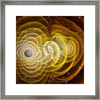Black Holes Merging Framed Print by Chris Henzenasa
