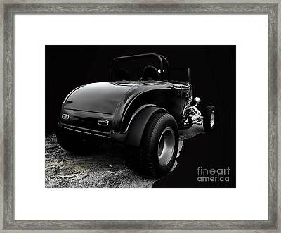 Black Jalopy Framed Print by Jerry L Barrett