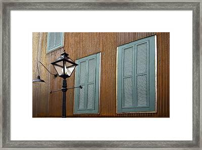 Black Lamp Post Framed Print by James Steele