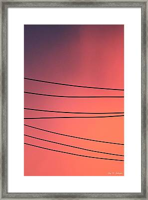 Black Lines And Night Skies  Framed Print
